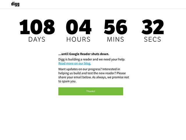 Digg va lancer son propre Google Reader