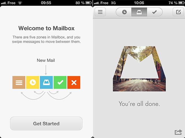 Mailbox : l'assistant et la boite de réception