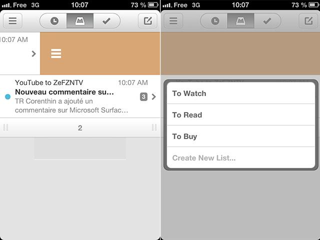 Mailbox : les listes