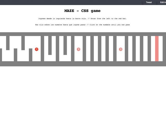 Maze : labyrinthe en css