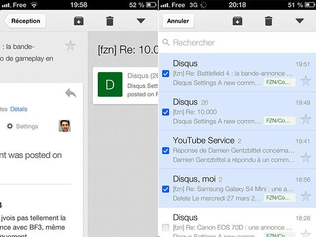 Gmail iOS version 2.1