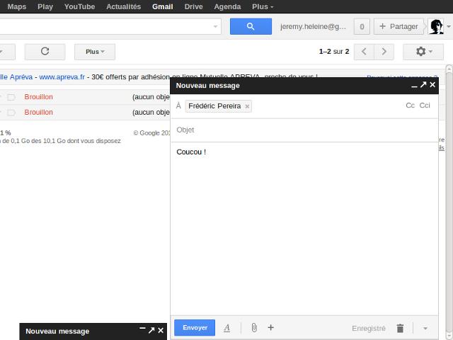 Nouveau mode de rédaction de Gmail