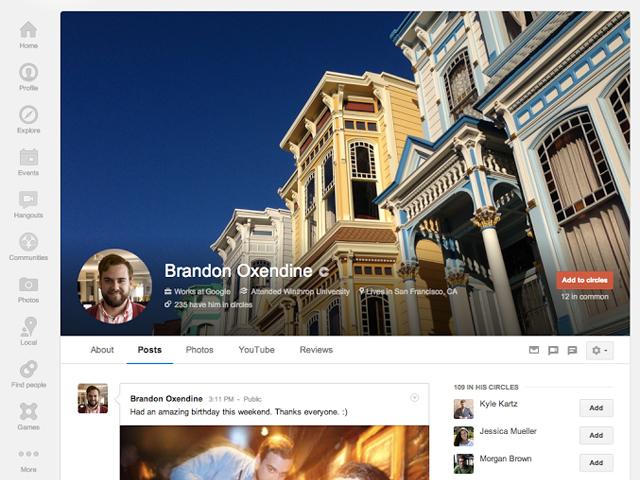 Google+ : nouveau profil et nouvelles pages