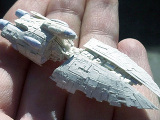 Une sculpture miniature en papier