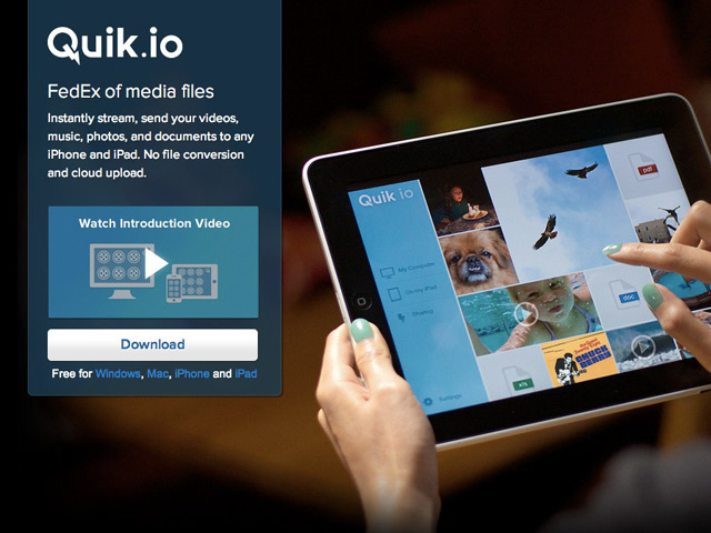 Quikio : streaming entre ordinateurs et iDevices