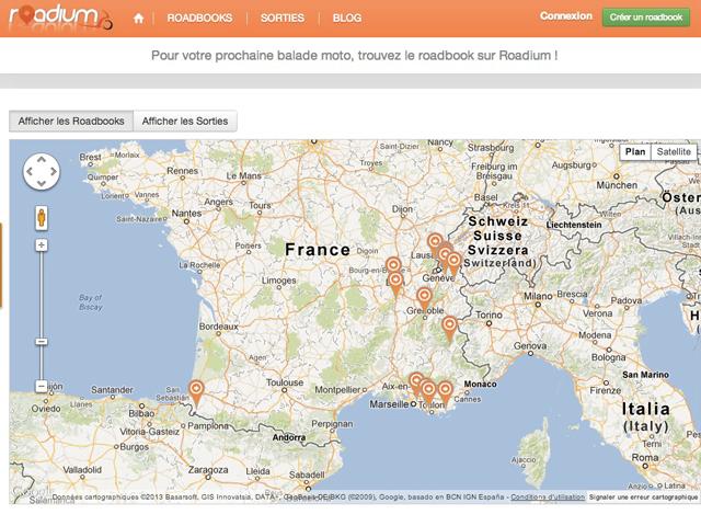 "Roadium, un service dédié aux ""roadbooks"""