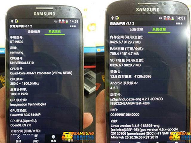 Samsung Galaxy S4 : les références