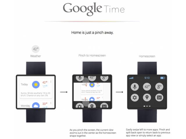 Une smartwatch par Google