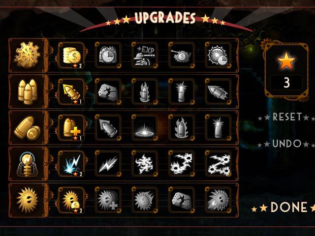 Steampunk Defense : les upgrades