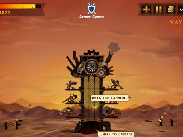 Steampunk Defense : la tour