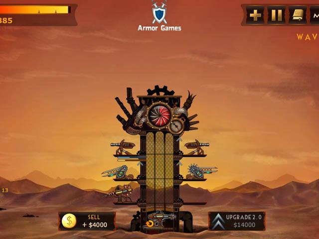 Steampunk Defense : évolution des canons