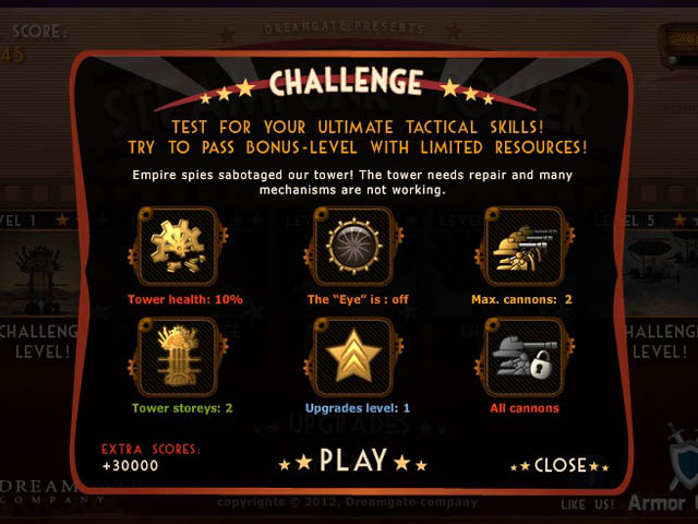 Steampunk Defense : les challenges