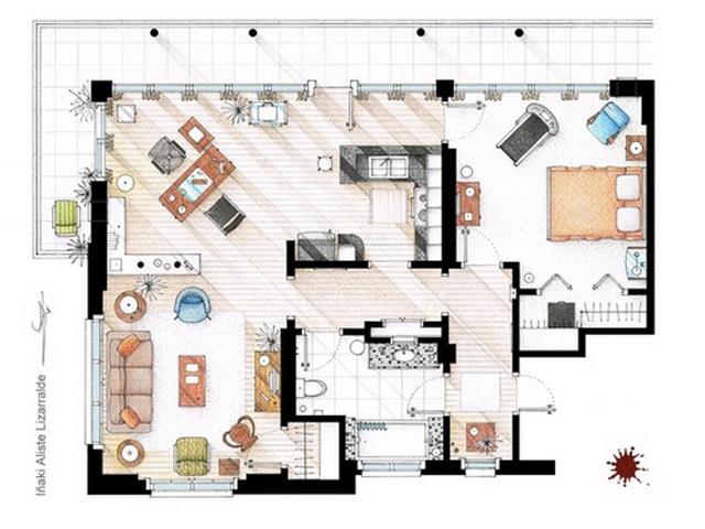 TV Floorplans : les plans des habitations de vos séries préférées