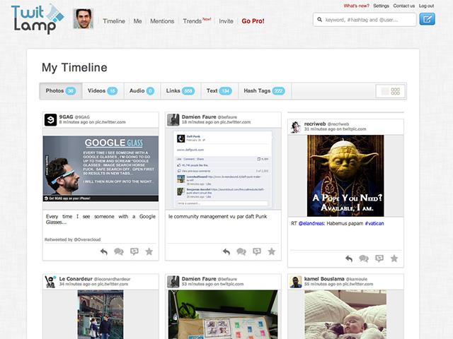 TwitLamp, ta timeline Twitter autrement