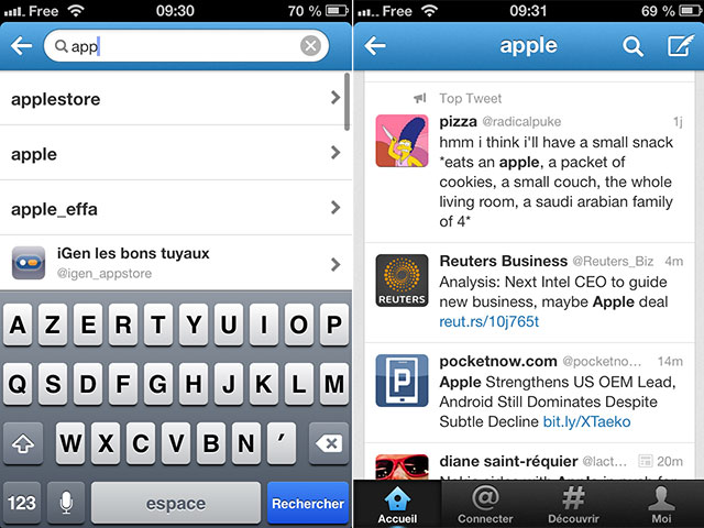 Twitter : une mise à jour sur iOS et Android