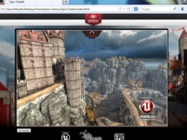 Unreal Engine 3 porté sur le web par Mozilla