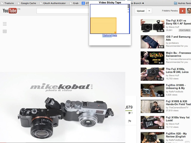 Video Tape pour Google Chrome