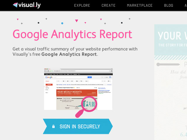 Visual.ly : Google Analytics sur une infographie
