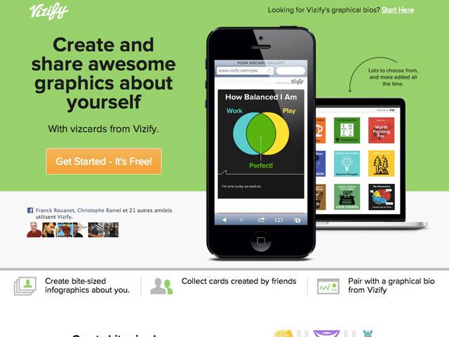 Vizify lance les Vizcards, des mini infographies personnalisables