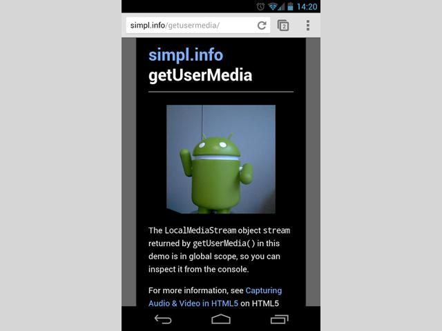 WebRTC intégré à Chrome pour Android