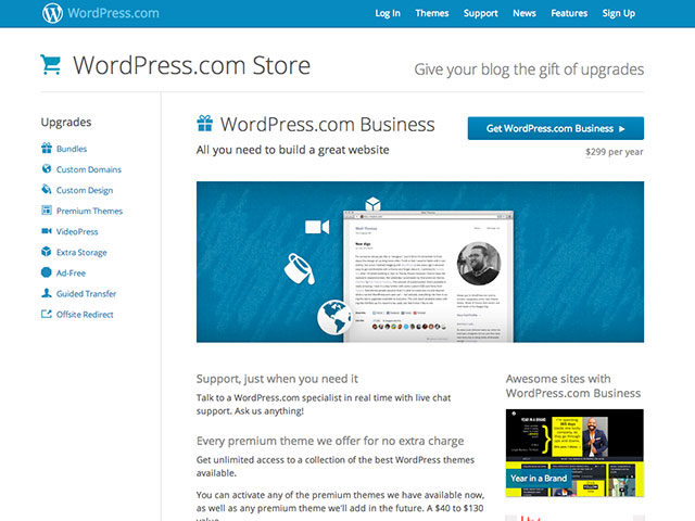 Wordpress.com : une nouvelle offre business pour les entreprises