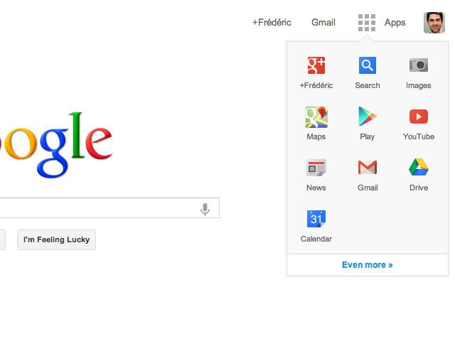 Activer le nouveau lanceur d'applications sur Google.com