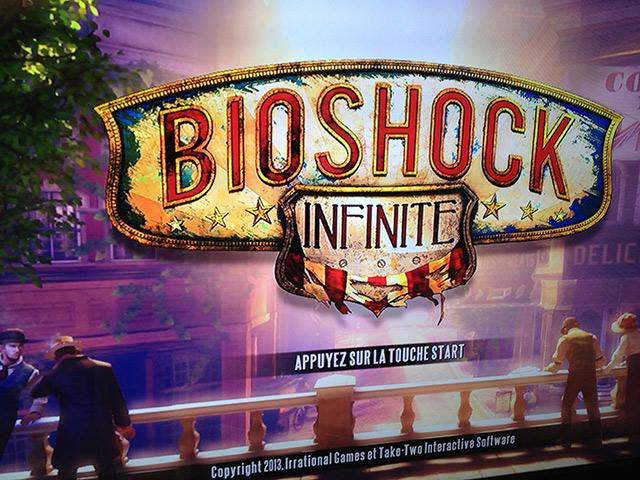 Bioshock Infinite : écran d'accueil