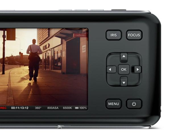 BlackMagic Pocket Cinema Camera : le dos du boitier