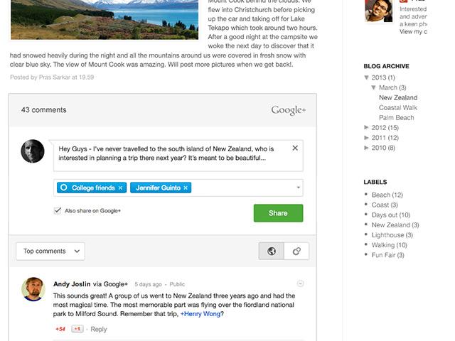 Blogger : les commentaires bientôt sous Google+