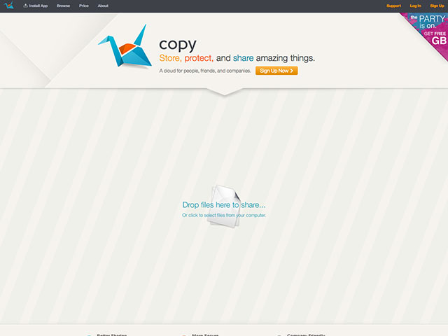 Copy, une alternative à Dropbox