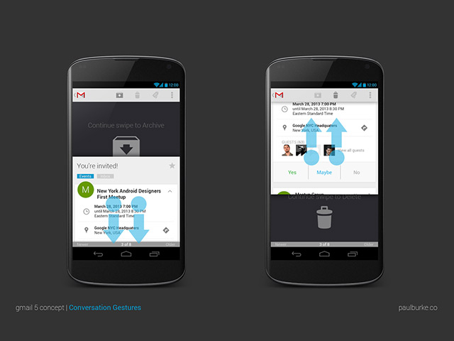 Gmail 5 Concept : balayage vertical