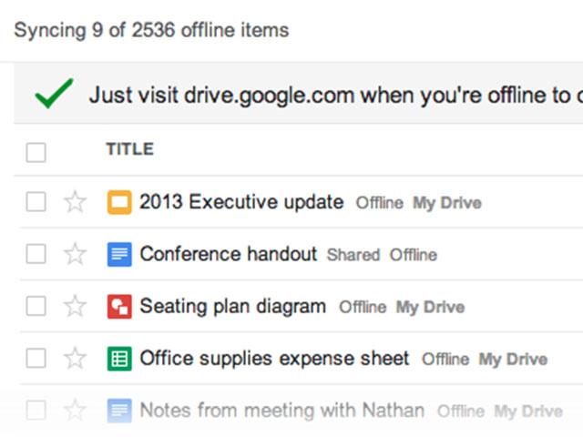 Google Drive : mode hors connexion dans Chrome