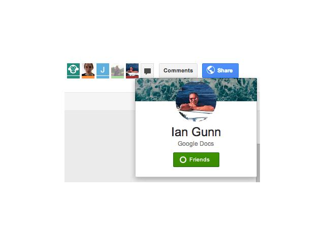 Google+ dans Drive