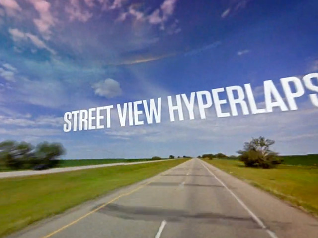 Street View Hyperlaps