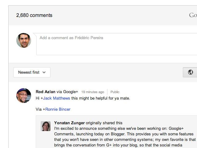 Intégrer les commentaires Google+ à son site