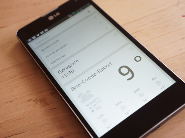 LG Optimus G : Google Now