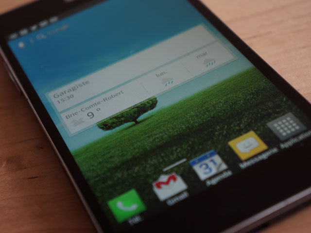 LG Optimus G : le widget Google Now
