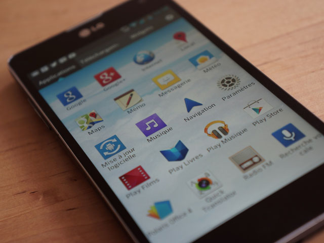LG Optimus G : la liste des applications