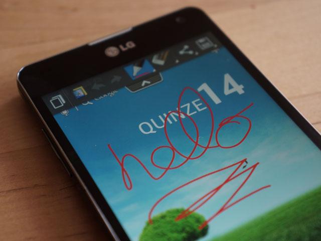 LG Optimus G : Quick Memo (bis)