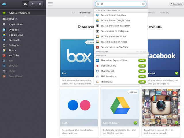 Jolidrive : avec un moteur de recherche
