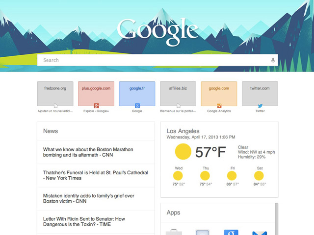New Tab Page Chrome
