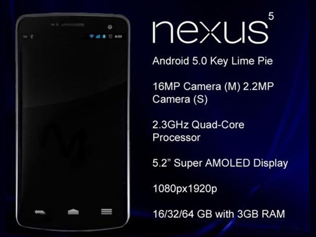 Nexus 5 : une image, des spécifications
