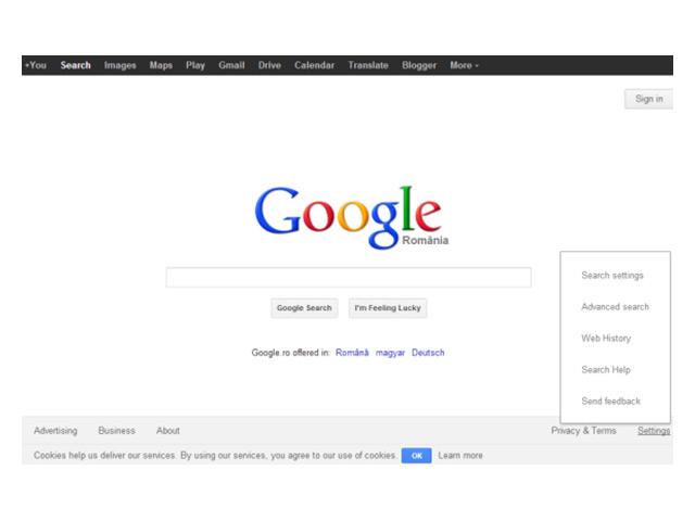 Nouveau footer Google