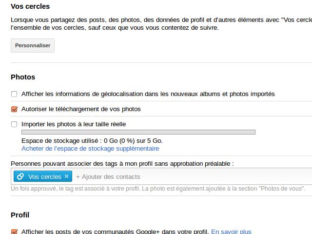 Des photos en taille réelle sur Google+