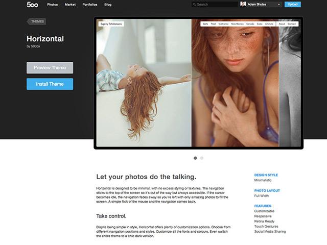 Portfolio 500px : un exemple
