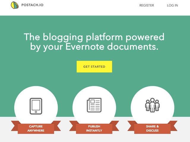 Créer un blog avec Evernote et Postach.io