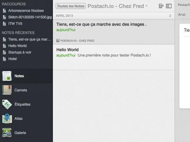 Postach.io : Evernote