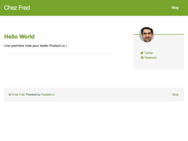 Postach.io : le site nouvellement créé