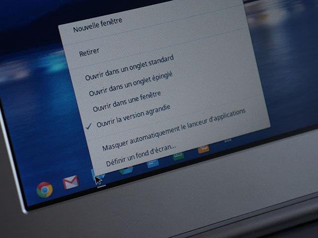 Chrome OS : définition du comportement des fenêtres