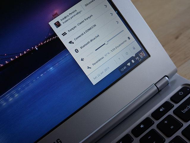 Chrome OS : la zone de notification (bis)